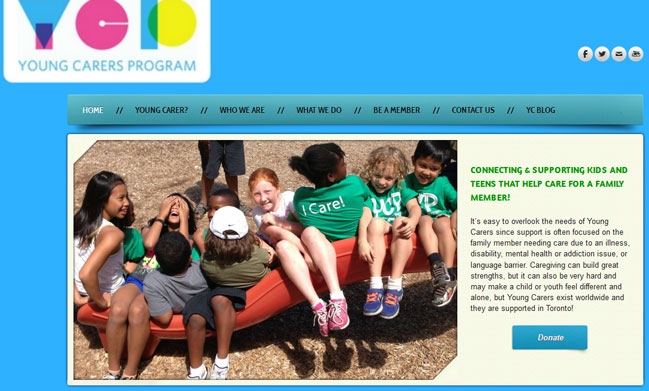young carers website image